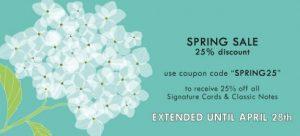 Haute Note's 2016 Spring Sale Continues Until April 28th - HauteNoteCards.com