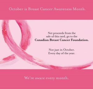 Haute Note - Breast Cancer card - every month of the year - HauteNote.com