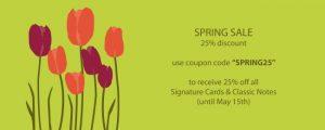 2017 Spring Sale - Tulips - HauteNoteCards.com