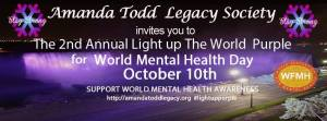 2nd Annual Light Up The World In Purple - Amanda Todd Legacy - World Mental Health Day