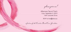 Haute Note - Breast Cancer Ribbon card - CBCF fundraiser - HauteNoteCards.com