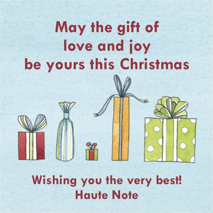 Haute Note Christmas - HauteNoteCards.com