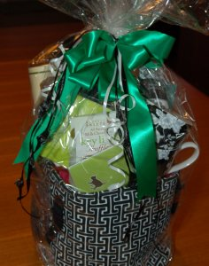 Haute Note's donation to the Katie's Place 1st Annual Cat Ball - Basket Case Gift Baskets