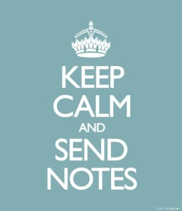 Haute Note - Keep calm and send notes