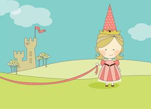 Haute Note Cards - Princess card, Birthday card, Birthday invitation, Birthday party invitation, Princess birthday party invitation - HauteNote.com
