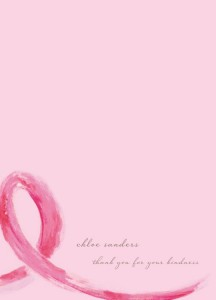 Haute Note - Breast Cancer Ribbon card - CBCF fundraiser - HauteNoteCards.com