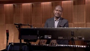 "James Poyser - A talented musician and producer, plays music to accompany the ""Thank You Notes"" segment, on the Tonight Show starring Jimmy Fallon - we do not own this image, but thanks for allowing us to use it"