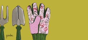 Haute Note - Gardening, Garden, Spring, Gardening Glove, Spring Note Card - HauteNote.com